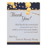 4x5 FLAT Thank You Card Paper Lanterns on Blue