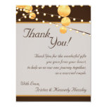 4x5 FLAT Thank You Card Paper Lanterns on Brown
