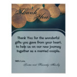 4x5 FLAT Thank You Card String Lights Night Lanter