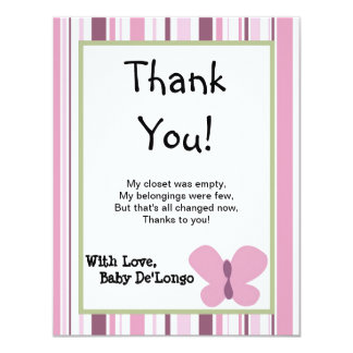 4x5 FLAT Thank You Card Sugar Plum