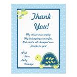 4x5 FLAT Thank You Card Turtle Reef Ocean Sea Custom Invite