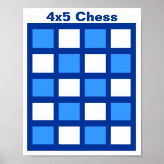 """4x5 - Rejilla de la ETIQUETA del ajedrez (1-1/4"""" Póster"""