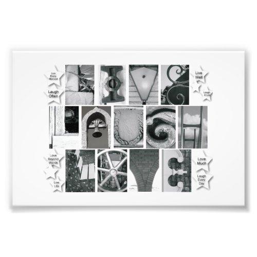 4x6 Alphabet Letter Photography Live Laugh Love photoenlargement