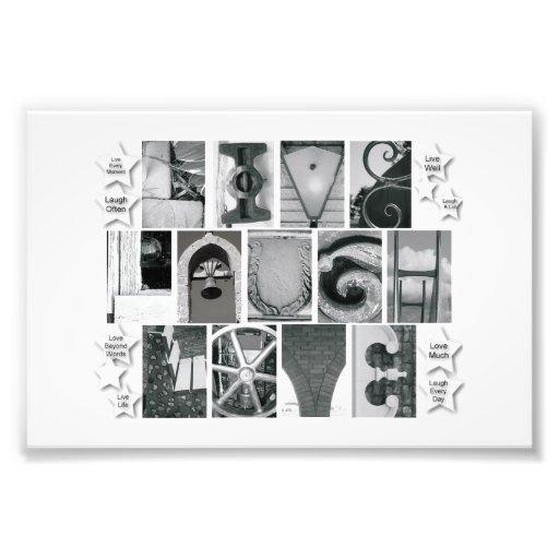 4x6 Alphabet Letter Photography Live Laugh Love Photo Art