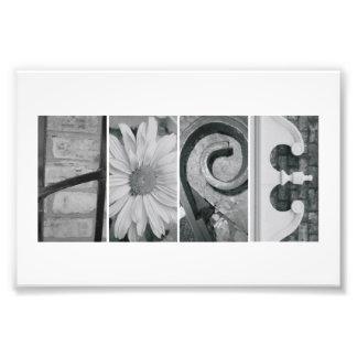 4x6 Alphabet Letter Photography Print Hope