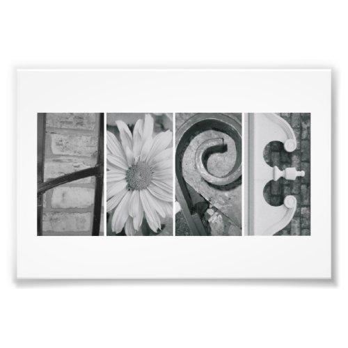 4x6 Alphabet Letter Photography Print Hope photoenlargement
