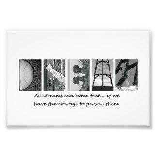4x6 Dream Alphabet Photography Letters Art Photo