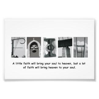 4x6 Faith Alphabet Letter Photography Print Photo Print
