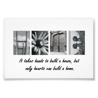 4x6 Home Alphabet Letter Photography Print
