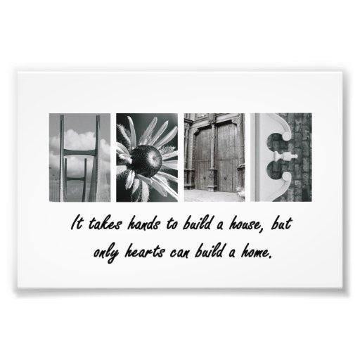 4x6 Home Alphabet Letter Photography Print Art Photo