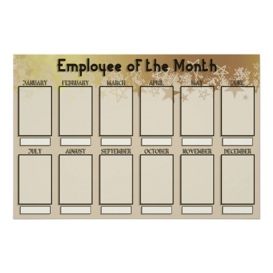 4x6 photos board employee of the month poster zazzle com