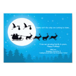 4x6 TWINS Christmas Pregnancy Announcement- Town Card