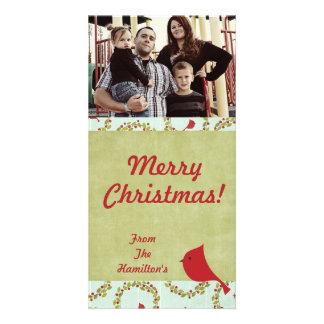 4x8 Cardinal Christmas Bird PHOTO Card