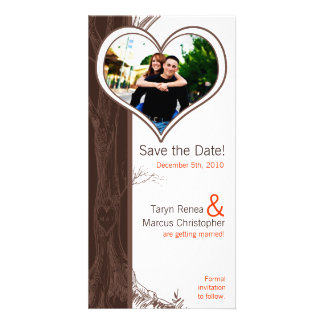 4x8 Engagement Announcement Fall Tree Initial Carv