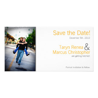 4x8 Engagement Announcement Yellow Grey Chevron