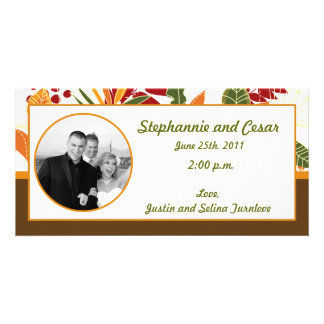 4x8 Engagement Photo Announcement Fall Foliage Lea