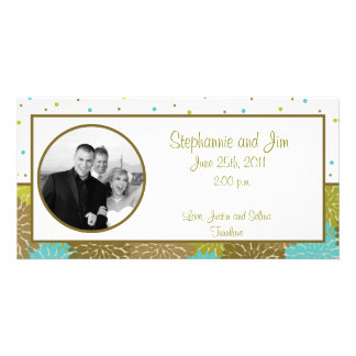 4x8 Engagement Photo Announcement Floral Burst
