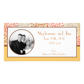 4x8 Engagement Photo Announcement Pink/Brown Flora