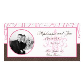 4x8 Engagement Photo Announcement Pink Chandelier