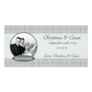 4x8 Engagement Photo Announcement Soft Blue Islami Custom Photo Card