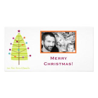 4x8 Modern XMAS Tree PHOTO Christmas Card