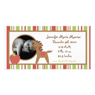 4x8 Red Barn Farm Birth Announcement