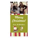 4x8 Santas que vienen a la tarjeta de la FOTO de l Tarjetas Fotográficas Personalizadas