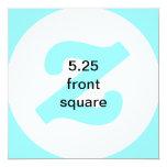 4x9.25 horizontales invitan invitación 13,3 cm x 13,3cm