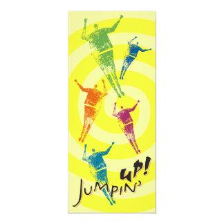 4x9.25 Yellow Jumpin' Up! Invitation