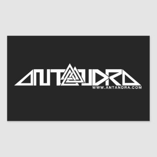 4x Rectangular Antandra Stickers b/w Rectangular Sticker