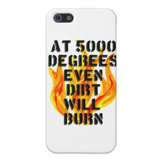 5000 grados de equipo de bomberos iPhone 5 carcasas