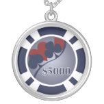 $5000 Poker Chip Necklace