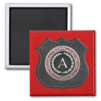 "[500] ""A"" Silver Vintage Monogram Fridge Magnet"