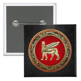 500 Babylonian Winged Bull Lamassu 3D Button