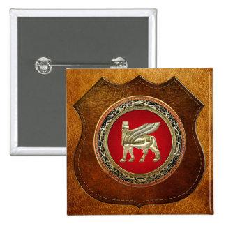 500 Babylonian Winged Bull Lamassu 3D Buttons