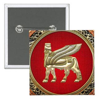 500 Babylonian Winged Bull Lamassu 3D Pin