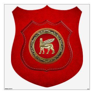 [500] Babylonian Winged Bull Lamassu [3D] Wall Sticker