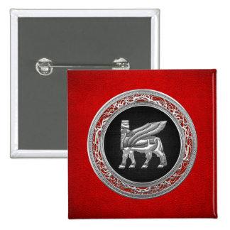 500 Babylonian Winged Bull Silver 3D Pins
