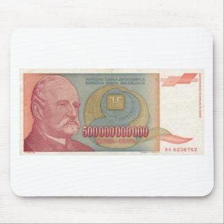 500 Billion Dinar Bill - Yugoslavia Mouse Pad