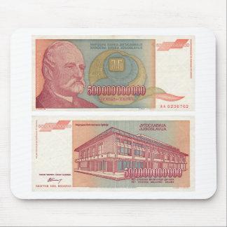 500 Billion Dinar Bill - Yugoslavia Mousepad