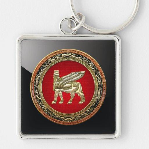 [500] Bull coa alas babilónico Lamassu [3D] Llavero Personalizado