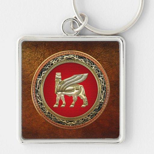 [500] Bull coa alas babilónico Lamassu [3D] Llaveros Personalizados