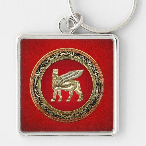 [500] Bull coa alas babilónico Lamassu [3D] Llaveros
