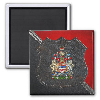 [500] Canada Coat of Arms [3D] 2 Inch Square Magnet