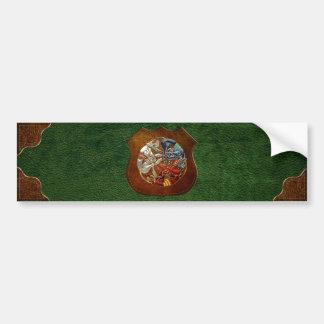 [500] Celtic Sacred Art - Three Dogs Bumper Stickers