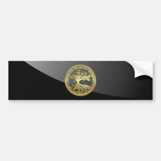 [500] Celtic Tree of Life [Gold] Bumper Sticker