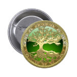 [500] Celtic Tree of Life [Gold] Button