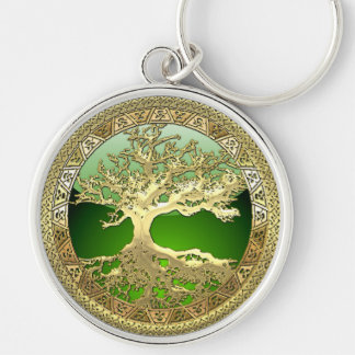 [500] Celtic Tree of Life [Gold] Keychain