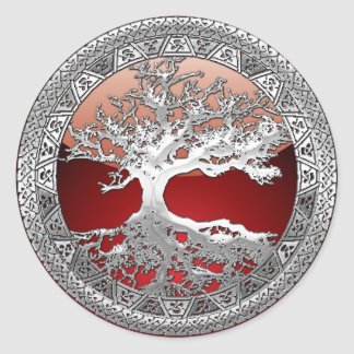 [500] Celtic Tree of Life [Silver] Stickers
