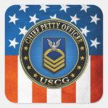 [500] CG: Chief Petty Officer (CPO) Square Sticker